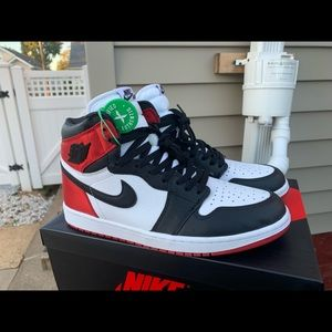 Satin Black Toe Air Jordan 1 size 115.w/10m
